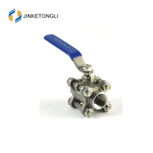 JKTL3B022 manufacture 3pc forged mini stainless steel port ball valve