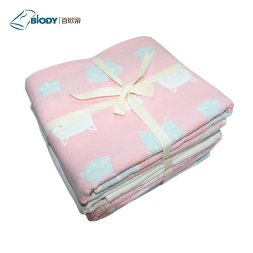 Soft Wave Point Printed NewBorn Baby Multilayer Blanket