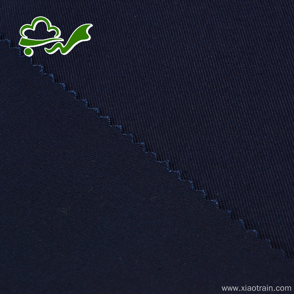 Woven navy twill organic cotton fabric for pants