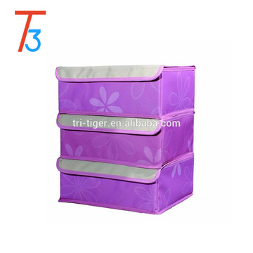 Set of 3 Foldable Drawer Dividers, Storage Boxes, Closet Organizers, Under Bed Organizer, for Clothing, Shoes, Underwear, Bra