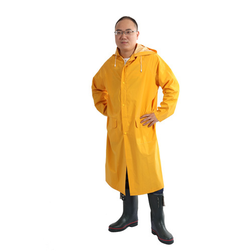 high qulity PVC Polyester Raincoat