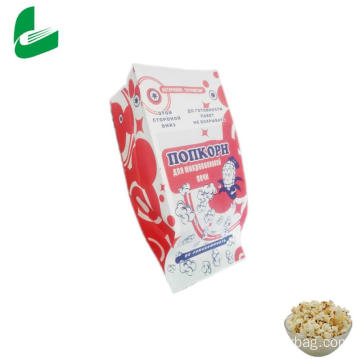 Kraft greaseproof paper microwave popcorn mini paper bag