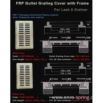 FRP Composite Grating For Drain Hot Sale