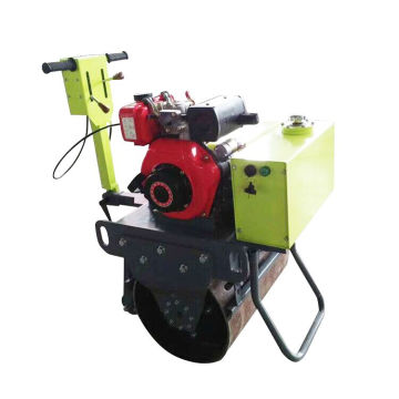 Walking type single steel wheel road roller