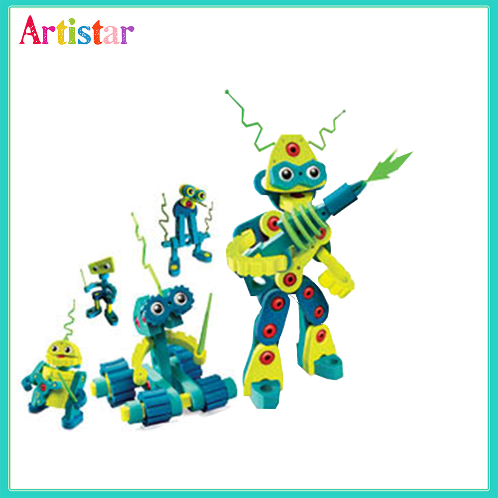 Bloco Robots Invasion Diy Beads Craft For Kids