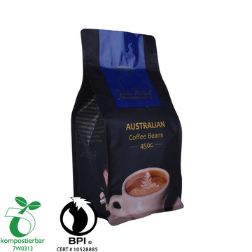 Stand up Zipper Coffee Plastic Packaging Bag with Flat Bottom