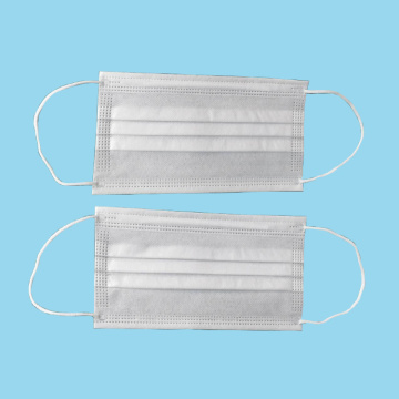 3ply earloop disposable white protective dust mask