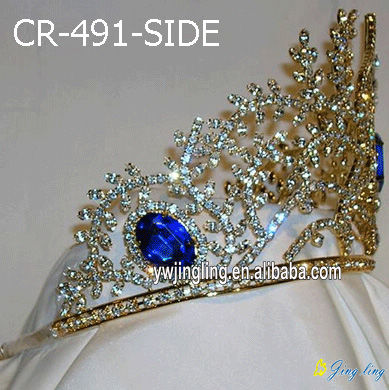 Gold plated beauty queen crowns