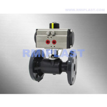 PVC Ball Valve Pneumatic Actuated Double Acting