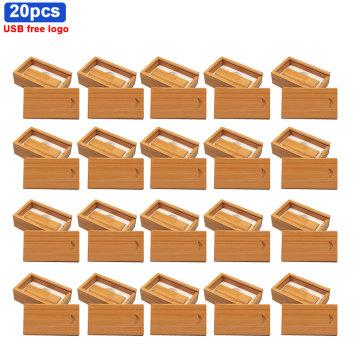 20pcs/lot mini Wooden batten usb flash drive pen drive pendrive 64GB 16GB 8GB 32GB U disk memory Stick wedding gifts free logo