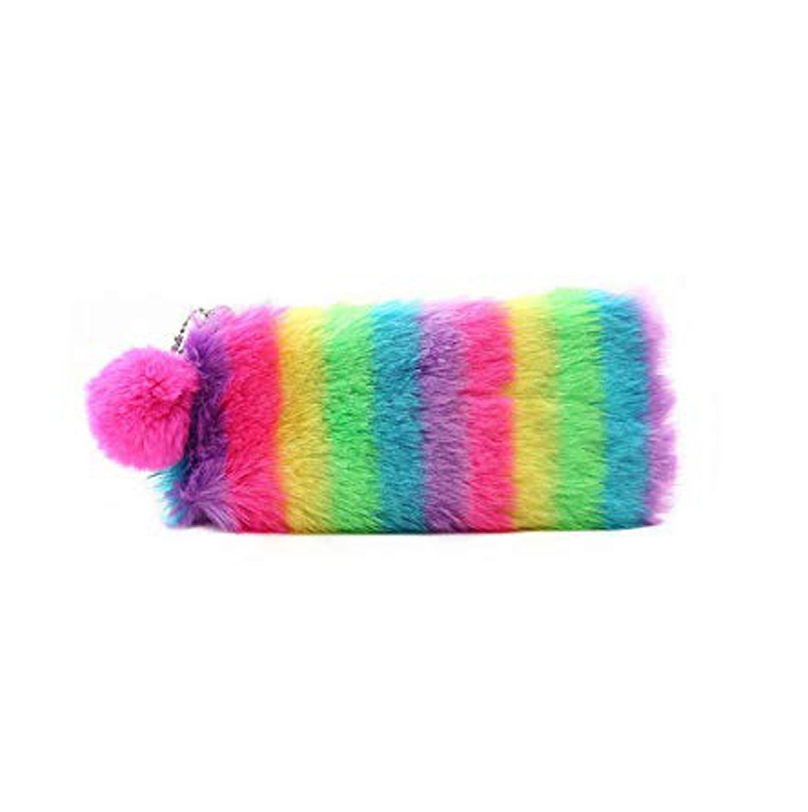 Fuzzy Pencil Case With Pompon 3