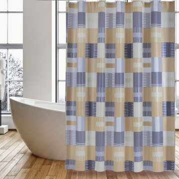 Shower Curtain PEVA Orange Square