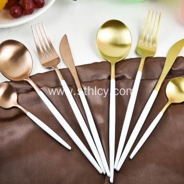 Gold Cutlery Set Stainless Steel Flatware