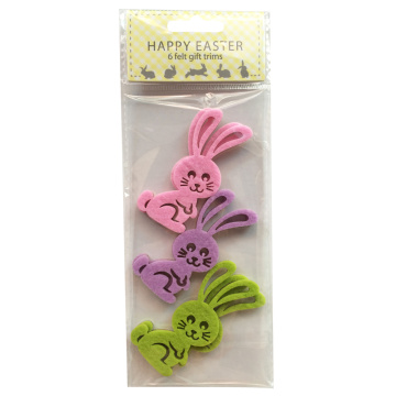 Easter hollow rabbit shape sticker