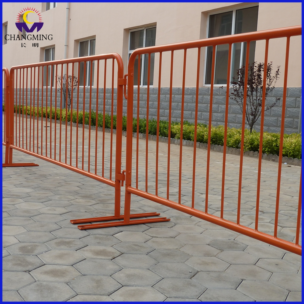 Powder coated yellow color stopper steel barricade