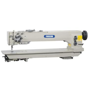 Long Arm Double Needle Compound Feed Heavy Duty Lockstitch Sewing Machine