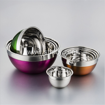 Stainless Steel Color Salad Pots