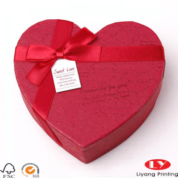 Decorative valentines heart shape gift boxes