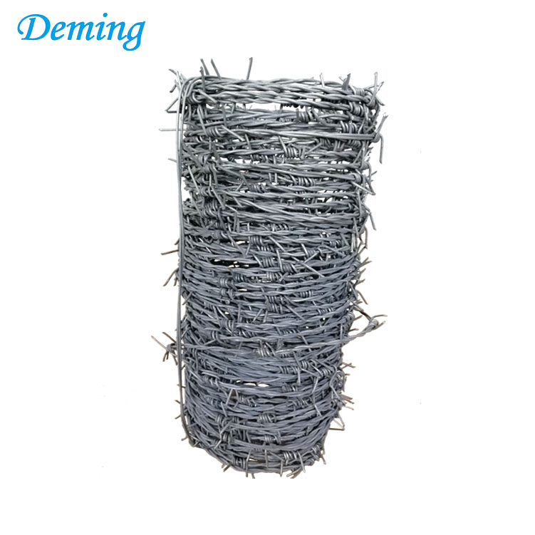 double strands galvanized barbed wire weight per roll