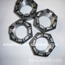 Hexagon Slotted Nuts And Castle Nuts