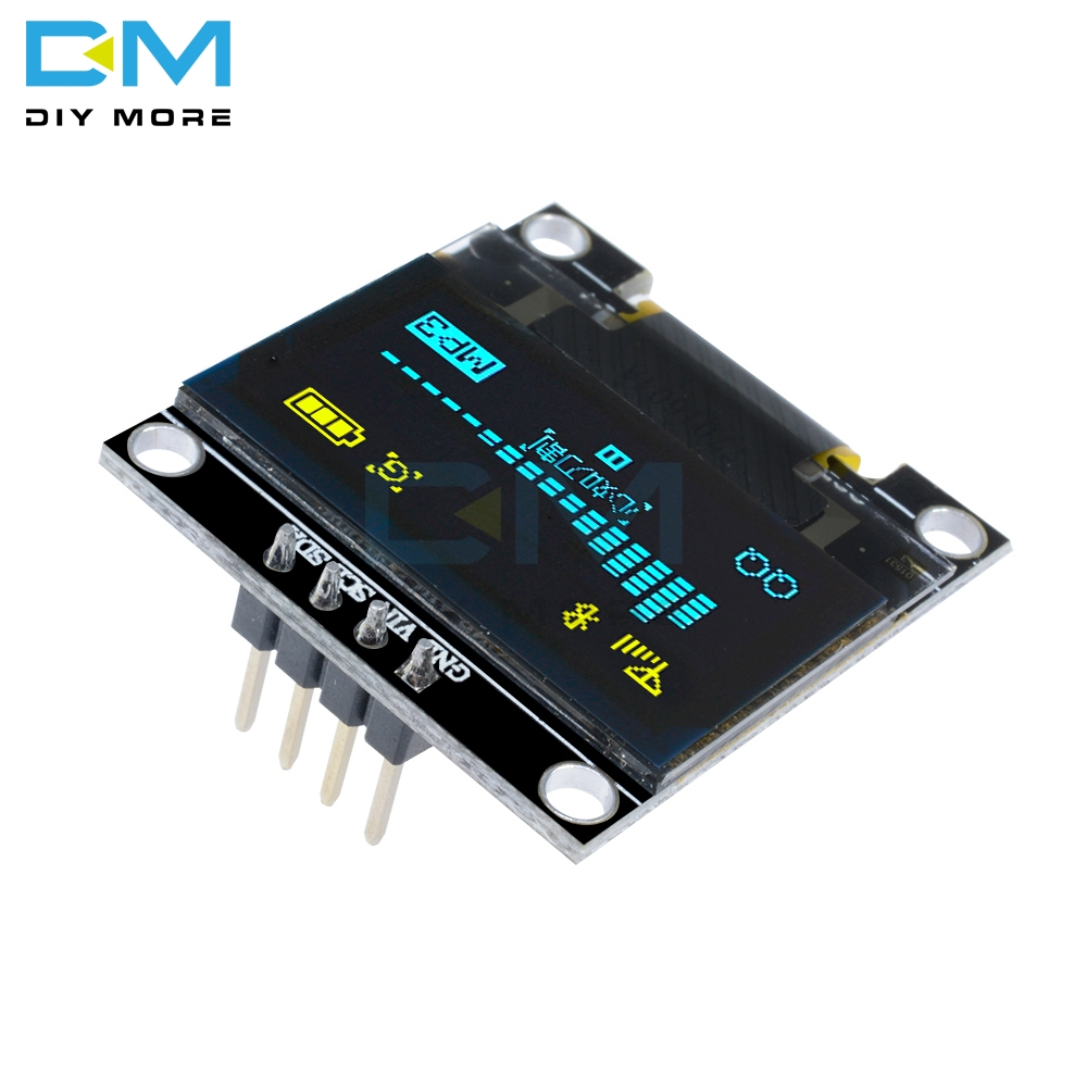 Yellow Blue 0.96 Inch I2C IIC Serial 128X64 128*64 OLED LED Display Module Compatible For Arduino STM32 Controller Driver Board