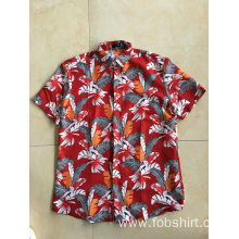 men hawaiian beach shirts printing