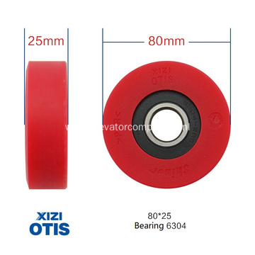 Red Step Roller for Xizi OTIS Escalators 80*25*6304