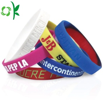 Best Quality Waterproof Fitness Debossed Exercise Wristbands