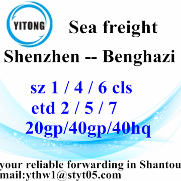 Shenzhen Shipping Agent Logistics Transport Service to Benghazi