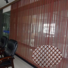 Decorative metal architectural chain curtain