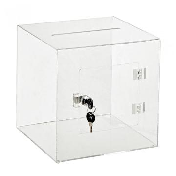 Deluxe Acrylic Ballot Box With Key Lock Large