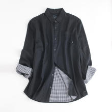 Men's Long-sleeve Reversible Mezzanine Slim Fit Shirt