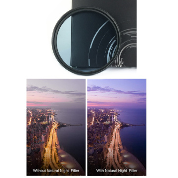 Natural Night Clear Pure Night Clearsky Glass Lens Filter for Canon Nikon Sony Fujifilm Camera Lenses 49 52 58 62 67 72 77 82mm