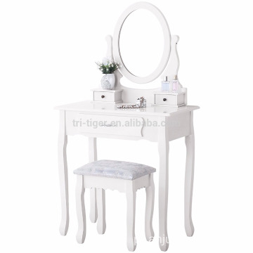 Wood furniture design modern dressing table with mirrors