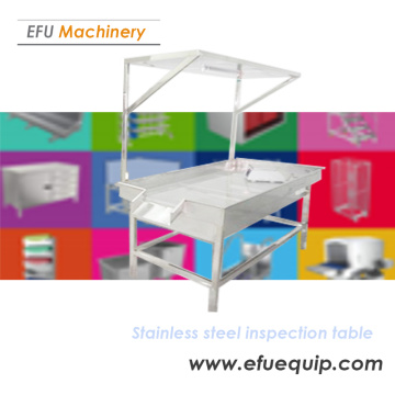 Stainless Steel Light Inspection Table