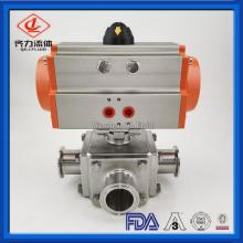 Sanitary 3 Way Pneumatic Ball Valves