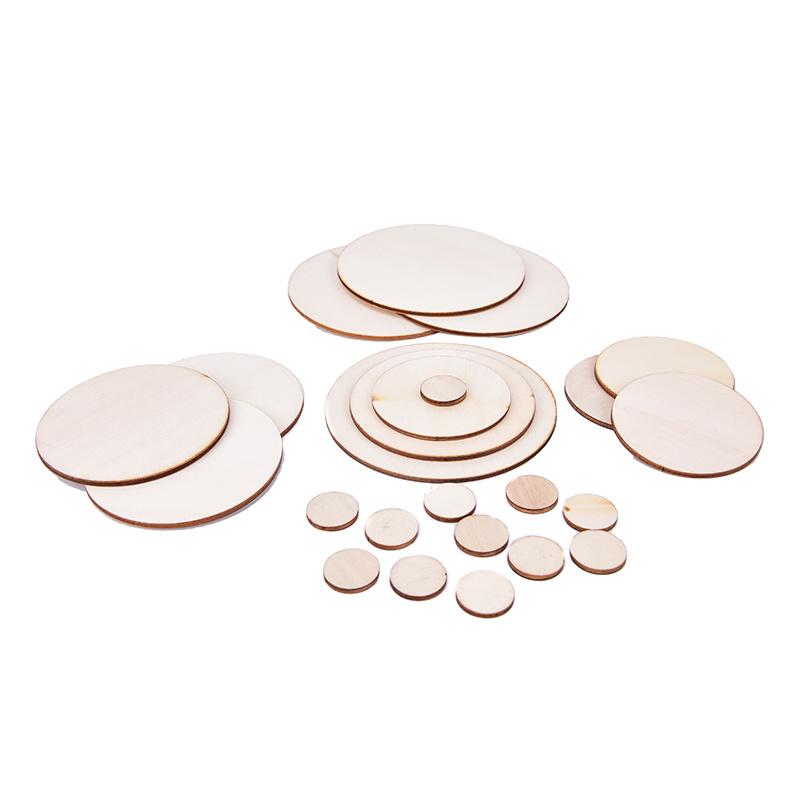5-100pcs DIY Craft Unfinished Natural Wood Slices Circles Log Discs For Christmas DIY Craft Rustic Wedding Ornaments