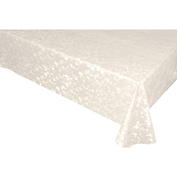 Solid Color Round Embossed Fabric Tablecloth