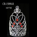 "10"" Heart Red Crystal Large Pageant Crown"