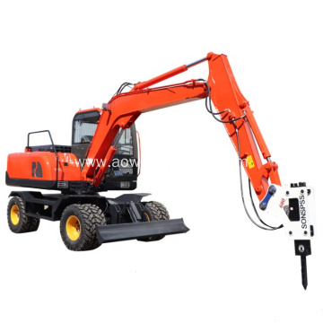 15ton Hydraulic Wheel Excavator for Mining Machinery