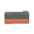 Tri Folds Long Outside Zipper Lady Mobile Wallet
