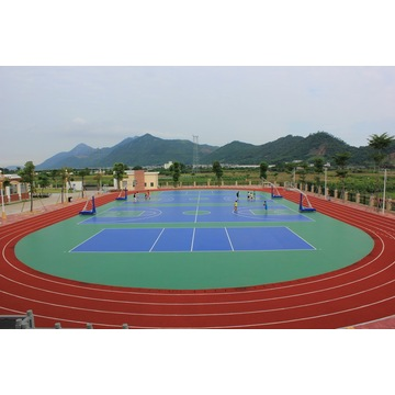 Colourful Synthetic Silicon PU Water-based Courts Sports Surface Flooring Athletic Running Track