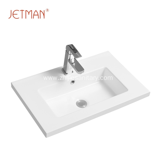 Bathroom ceramic rectangle hand wash basin