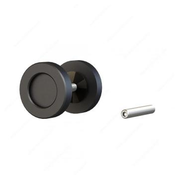 Steel Barn Door Finger Pull Knob Twin Handles
