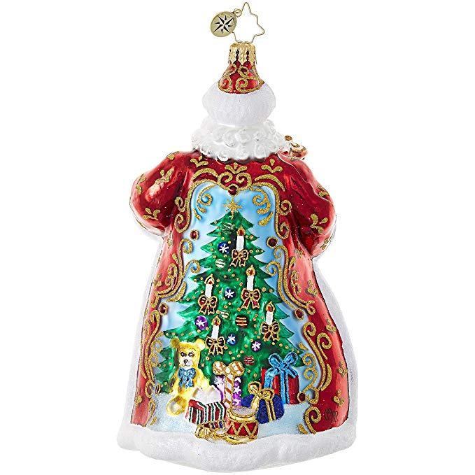 Glass Santa Claus Ornaments