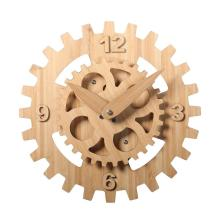 16 Inch Wooden Gear Wall Clock