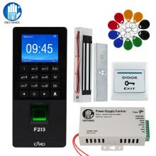 TCP/IP USB Fingerprint RFID Door Access control System Biometric with Software Password Keypad Power Supply Electric Door Locks
