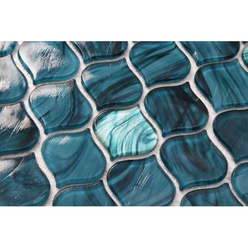 Green Glass Mosaic Tiles For Bathroom Stylish Design