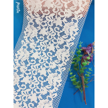 Nylon spandex gallon lace with straight edge