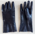 Black Single Dipped. Rough Finish.Gauntlet PVC Glove 30cm